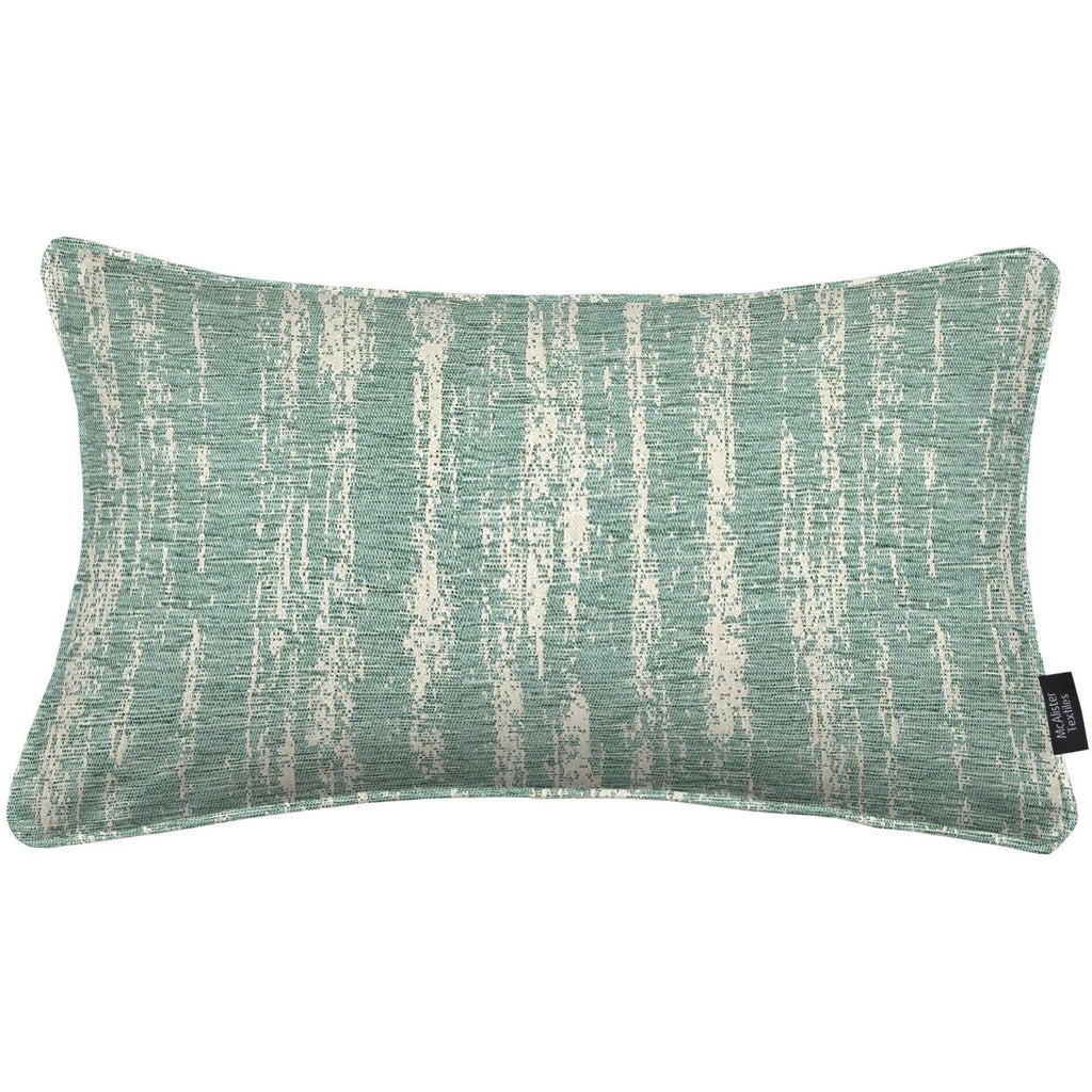 McAlister Textiles Textured Chenille Duck Egg Blue Cushion Cushions and Covers Cover Only 50cm x 30cm