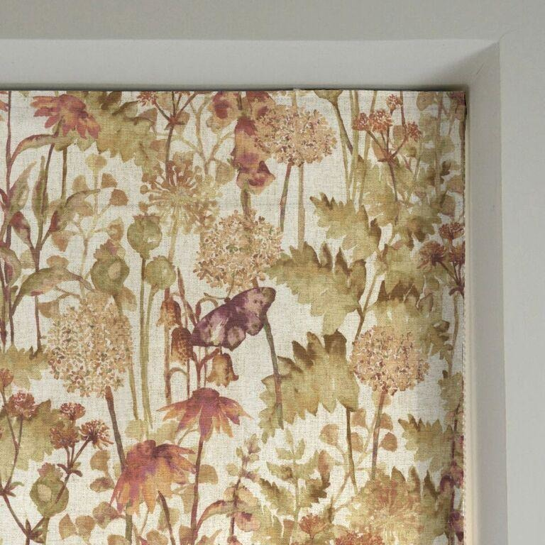 McAlister Textiles Wildflower Burnt Orange Linen Roman Blind Roman Blinds