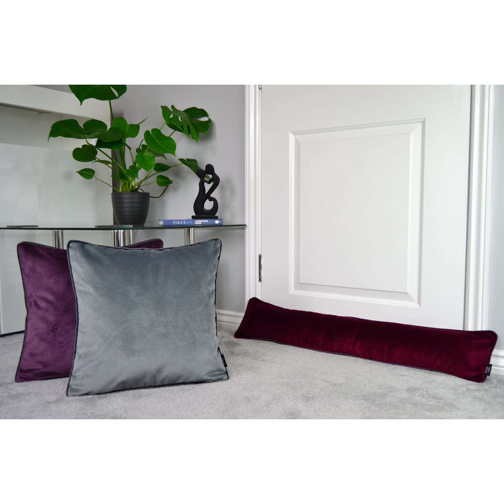 McAlister Textiles Matt Soft Silver Velvet Cushion Cushions and Covers