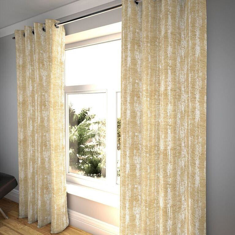 "McAlister Textiles Textured Chenille Beige Cream Curtains Tailored Curtains 116cm(w) x 182cm(d) (46"" x 72"")"