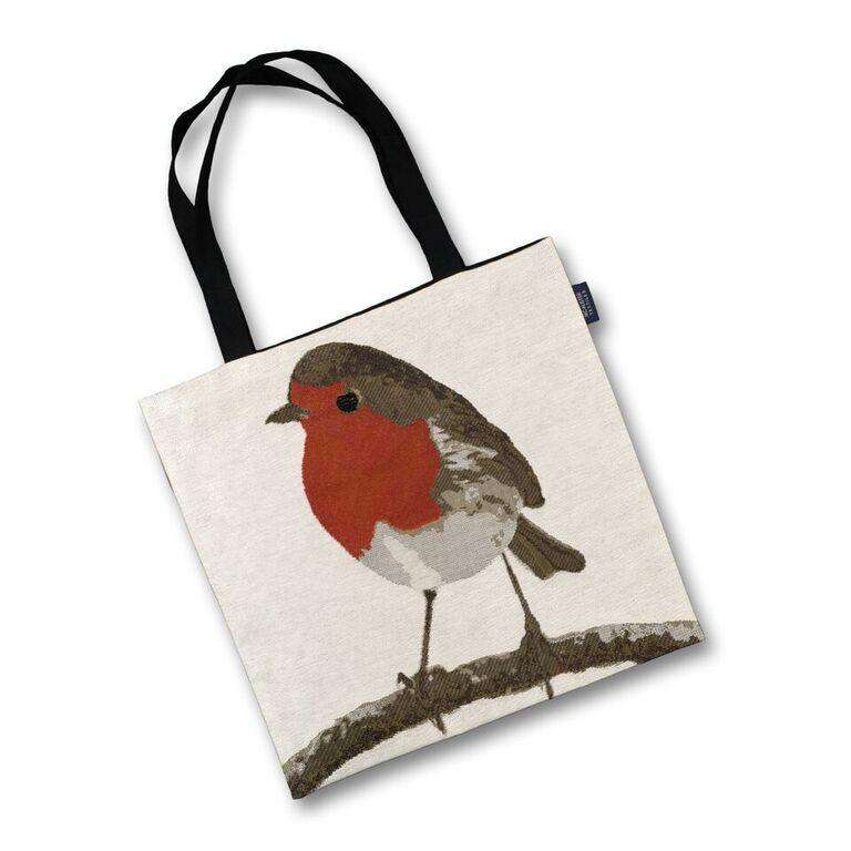 McAlister Textiles Robin Bird Tapestry Tote Bag Tote Bag