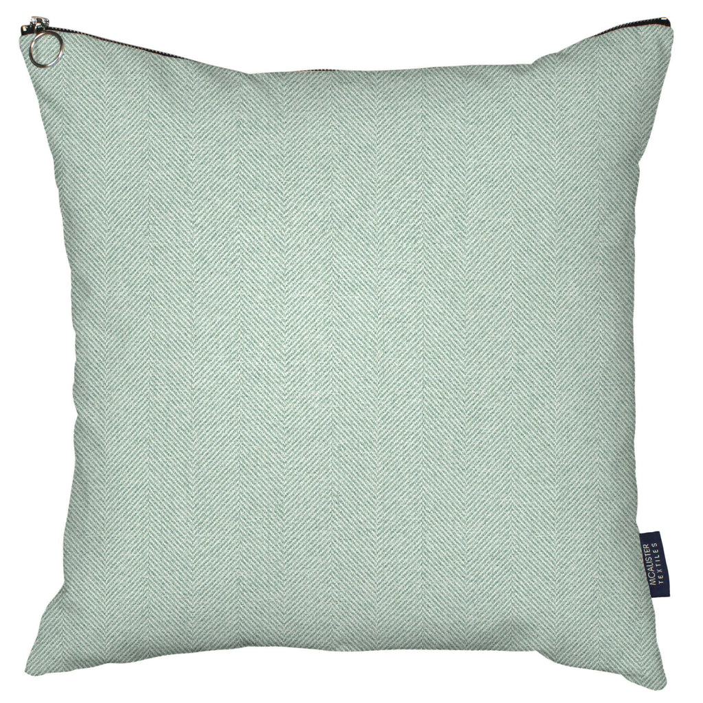 McAlister Textiles Herringbone Zipper Edge Duck Egg Blue Cushion Cushions and Covers Cover Only 43cm x 43cm