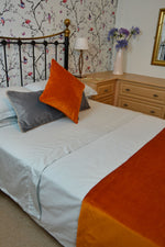 Load image into Gallery viewer, McAlister Textiles Matt Burnt Orange Velvet 43cm x 43cm Cushion Sets Cushions and Covers