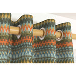 Load image into Gallery viewer, McAlister Textiles Curitiba Aztec Orange + Teal Curtains Tailored Curtains