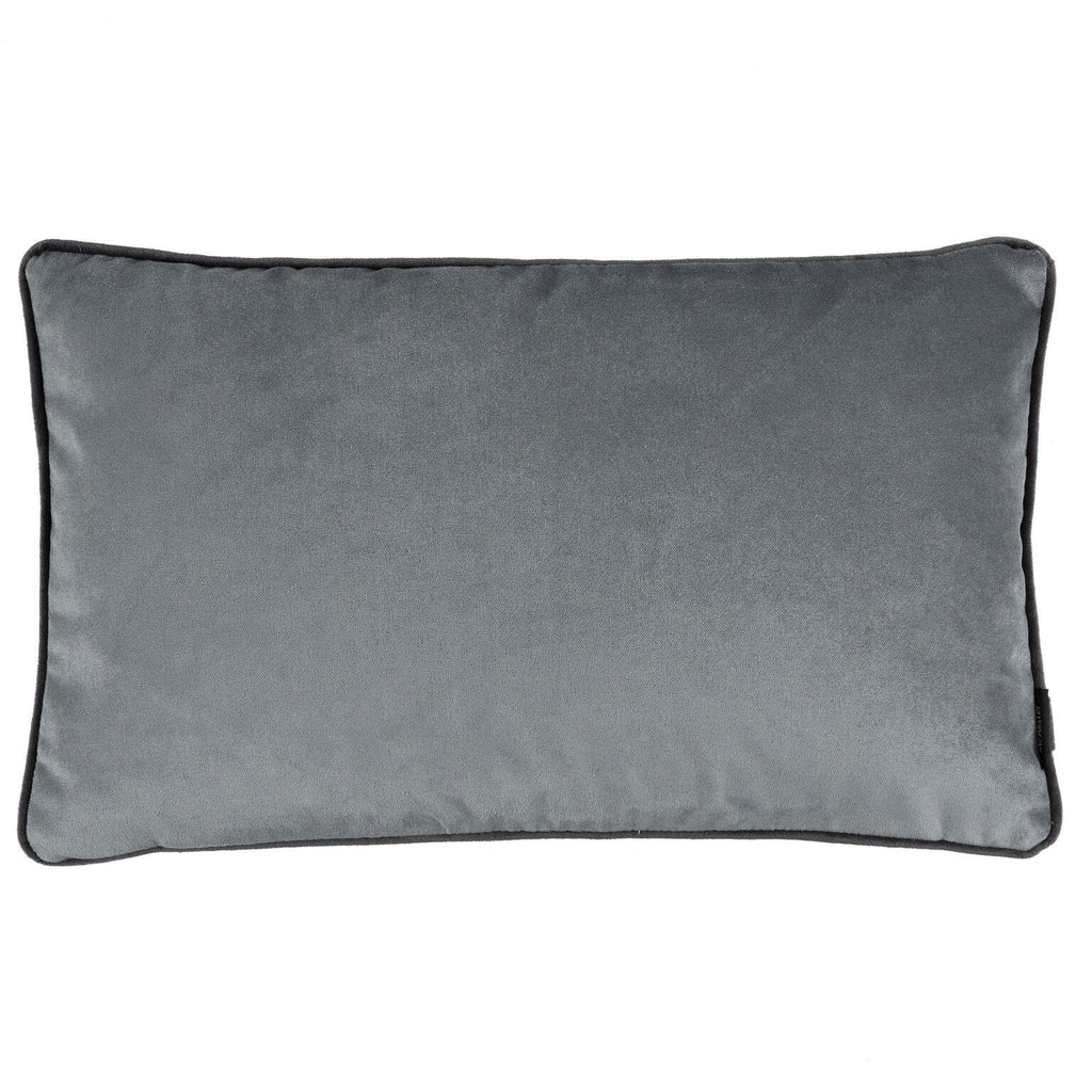 McAlister Textiles Matt Soft Silver Velvet Cushion Cushions and Covers Cover Only 50cm x 30cm