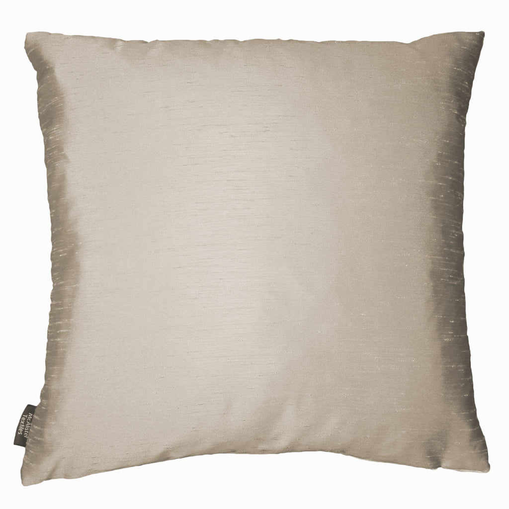 McAlister Textiles Rocco Contrast Faux Silk Grey+ Taupe Cushion Cushions and Covers