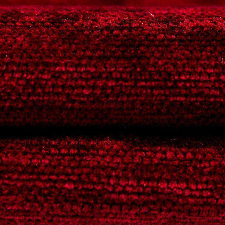 McAlister Textiles Plain Chenille Red Curtains Tailored Curtains