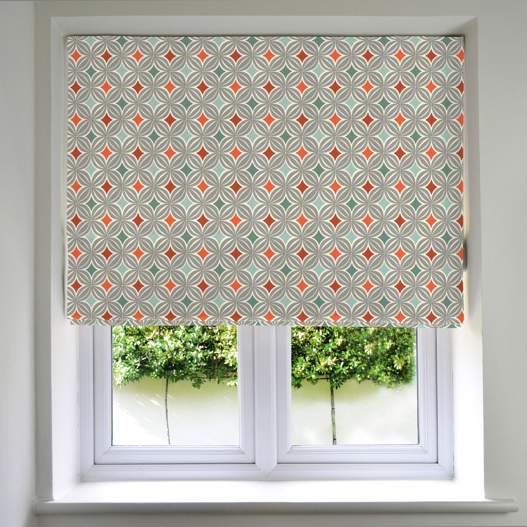 McAlister Textiles Laila Cotton Burnt Orange Roman Blinds Roman Blinds Standard Lining 130cm x 200cm
