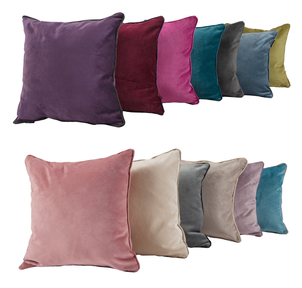 McAlister Textiles Matt Champagne Gold Velvet 43cm x 43cm Cushion Sets Cushions and Covers