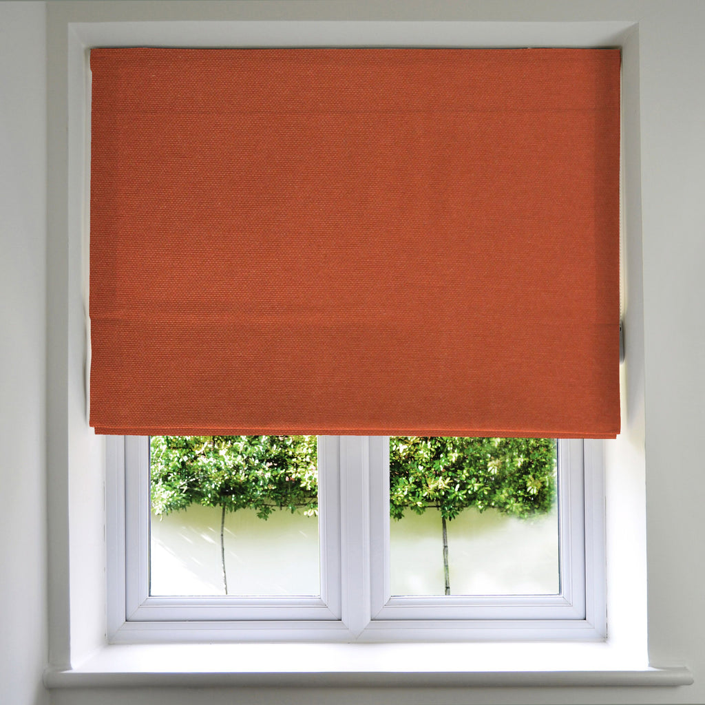 McAlister Textiles Panama Burnt Orange Roman Blind Roman Blinds Standard Lining 130cm x 200cm Burnt Orange