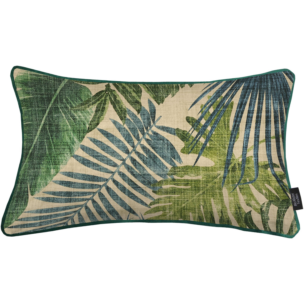 McAlister Textiles Palm Leaf Velvet Print Cushion Cushions and Covers Cover Only 50cm x 30cm