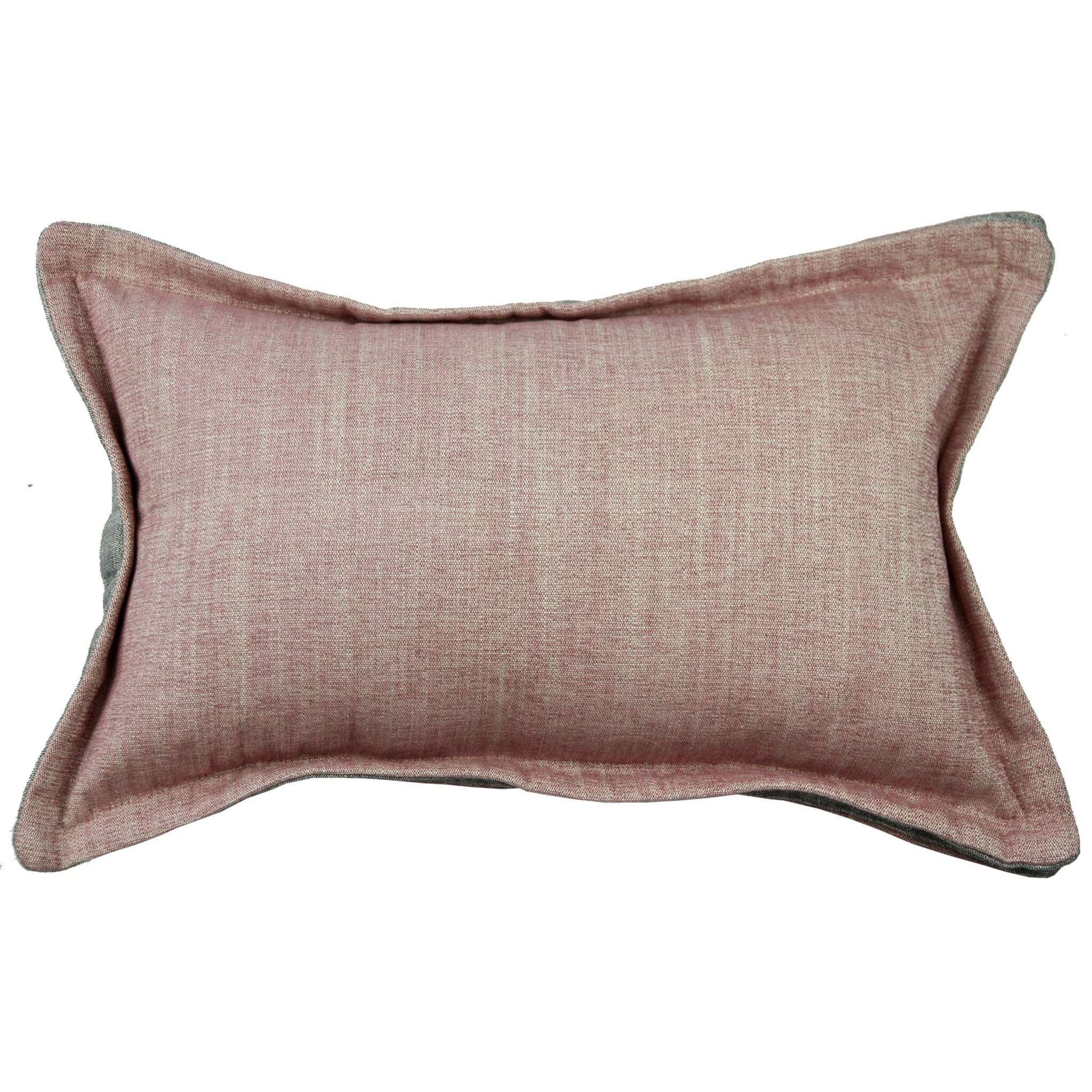 McAlister Textiles Rhumba Accent Blush Pink + Grey Pillow Pillow Cover Only 50cm x 30cm