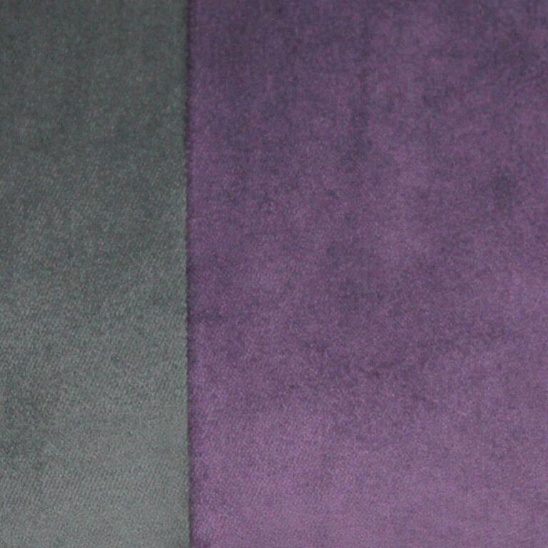 McAlister Textiles 2 Colour Patchwork Velvet Grey + Purple Pillow Pillow