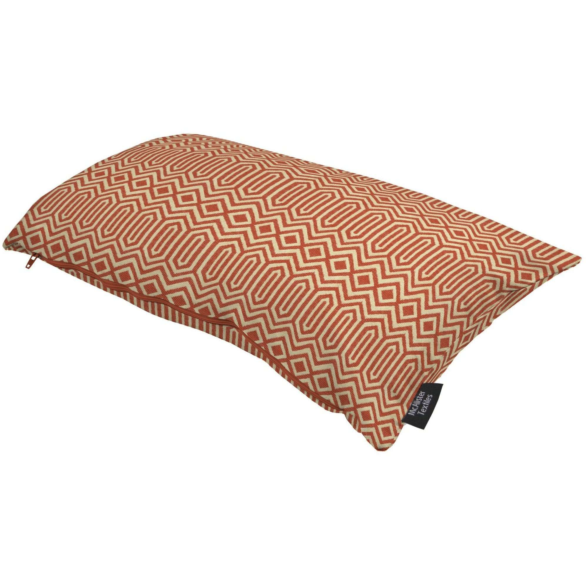 McAlister Textiles Colorado Geometric Burnt Orange Cushion Cushions and Covers