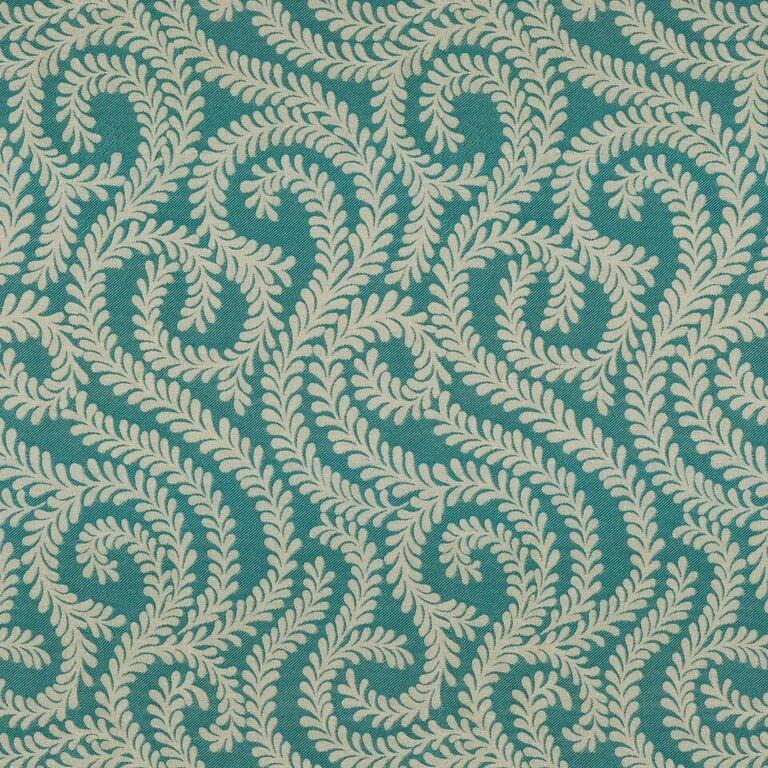 McAlister Textiles Little Leaf Teal Roman Blind Roman Blinds