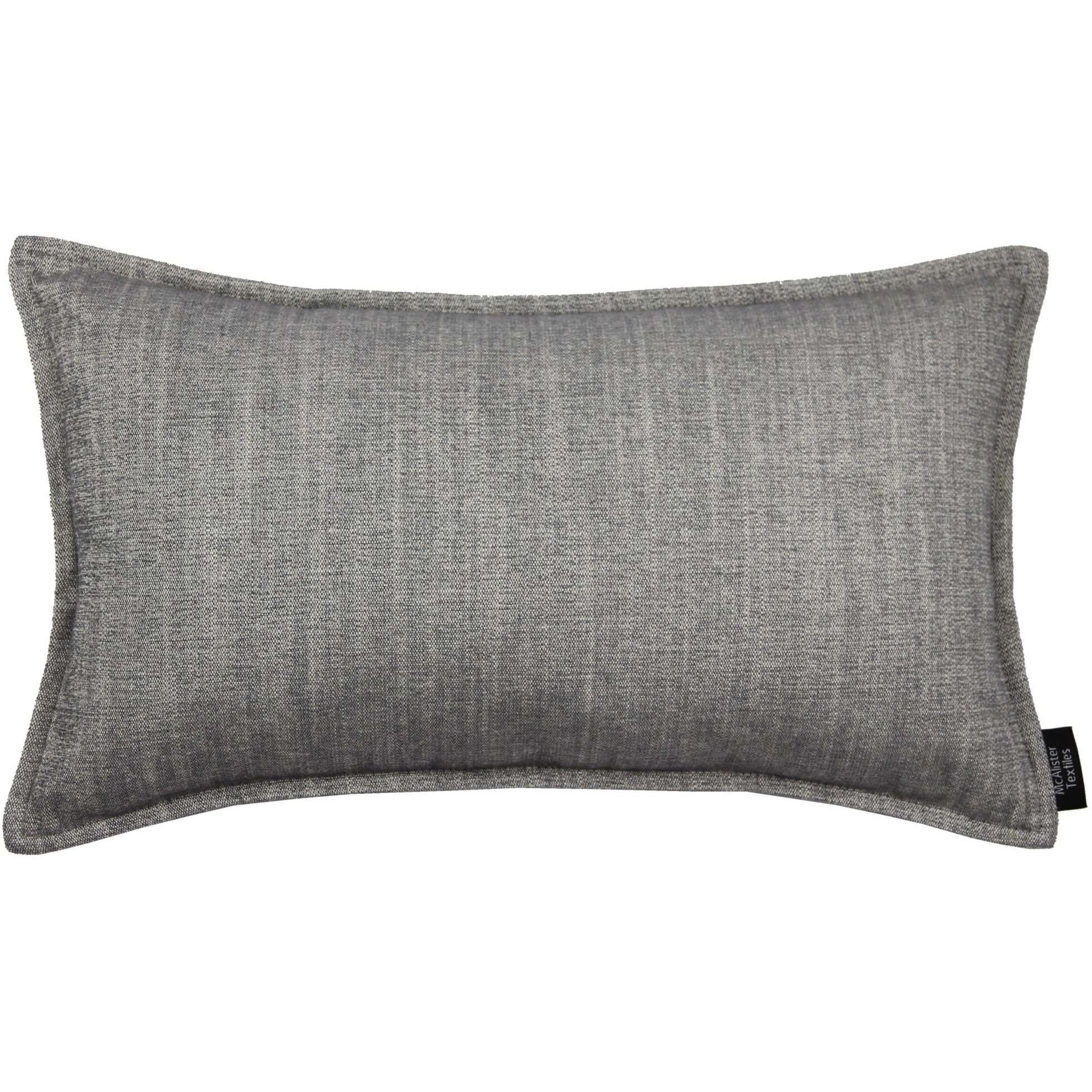 McAlister Textiles Rhumba Charcoal Grey Pillow Pillow Cover Only 50cm x 30cm