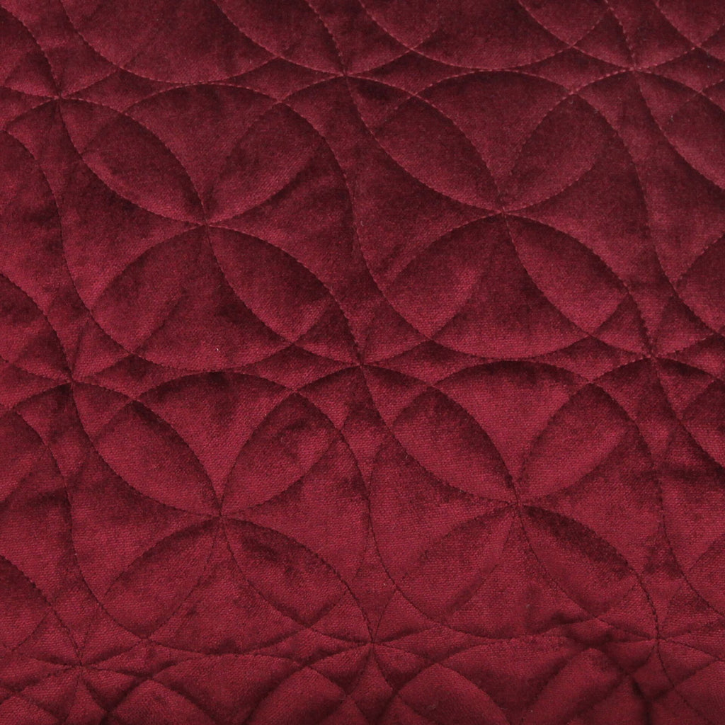 McAlister Textiles Circular Pattern Red Velvet Makeup Bag - Large Clutch Bag