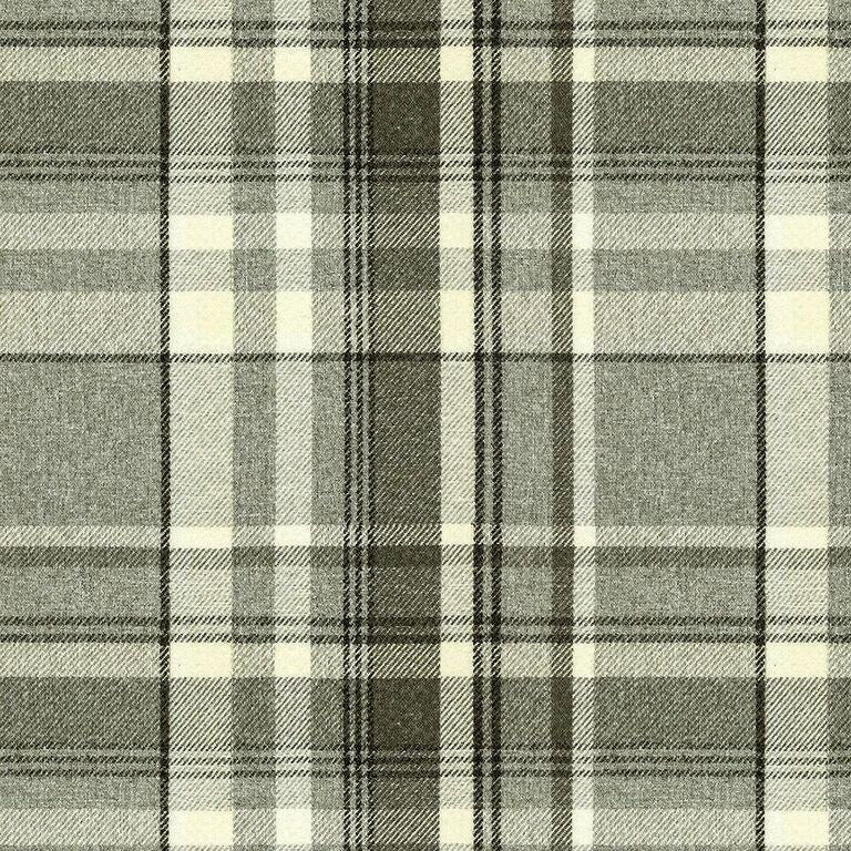 McAlister Textiles Heritage Charcoal Grey Tartan Curtains Tailored Curtains