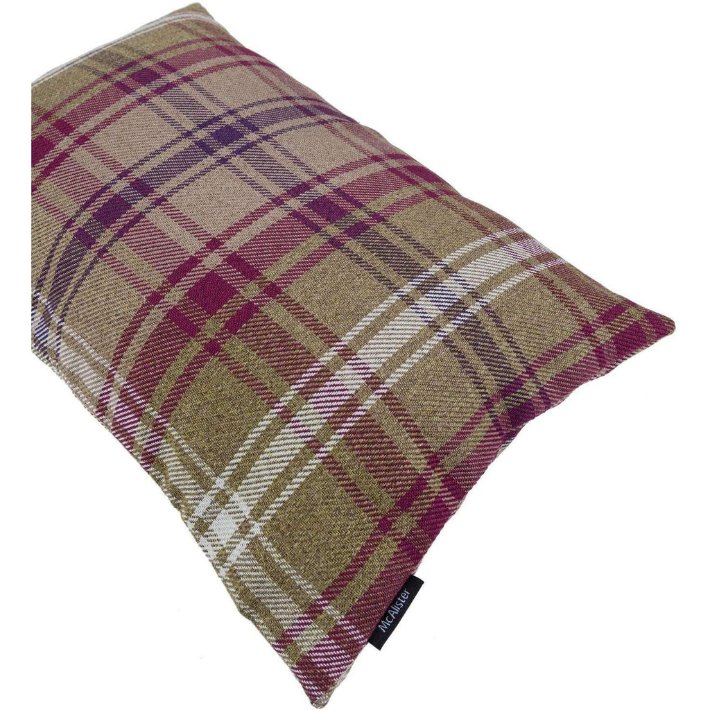 McAlister Textiles Angus Purple + Green Tartan Cushion Cushions and Covers