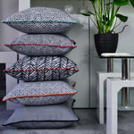 Cargar imagen en el visor de la galería, McAlister Textiles Acapulco Black + White Abstract Cushion Cushions and Covers