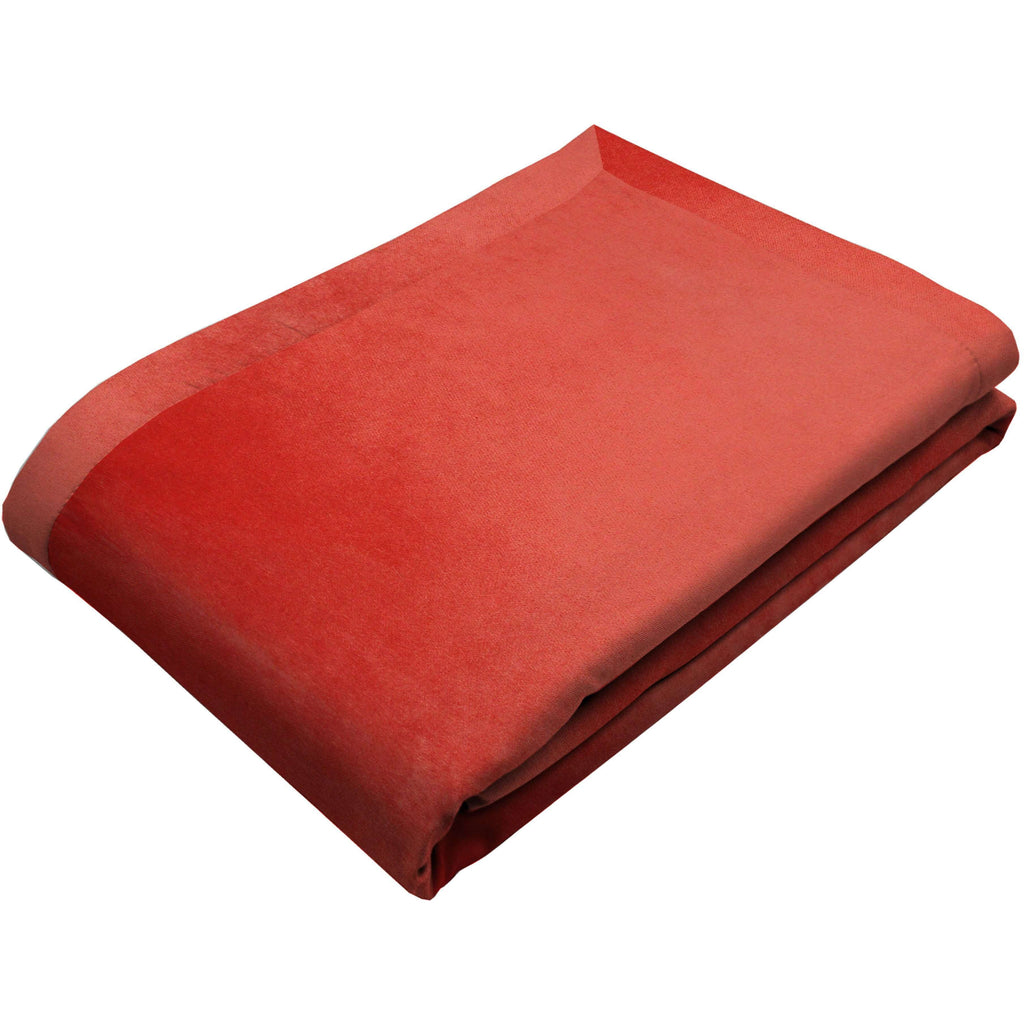 McAlister Textiles Matt Coral Pink Velvet Throw Blanket Throws and Runners Regular (130cm x 200cm)