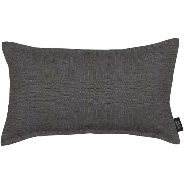 McAlister Textiles Savannah Charcoal Grey Pillow Pillow Cover Only 50cm x 30cm