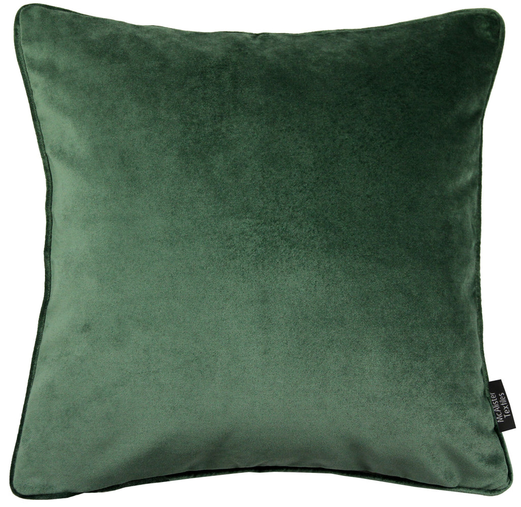 McAlister Textiles Matt Moss Green Velvet 43cm x 43cm Cushion Sets Cushions and Covers