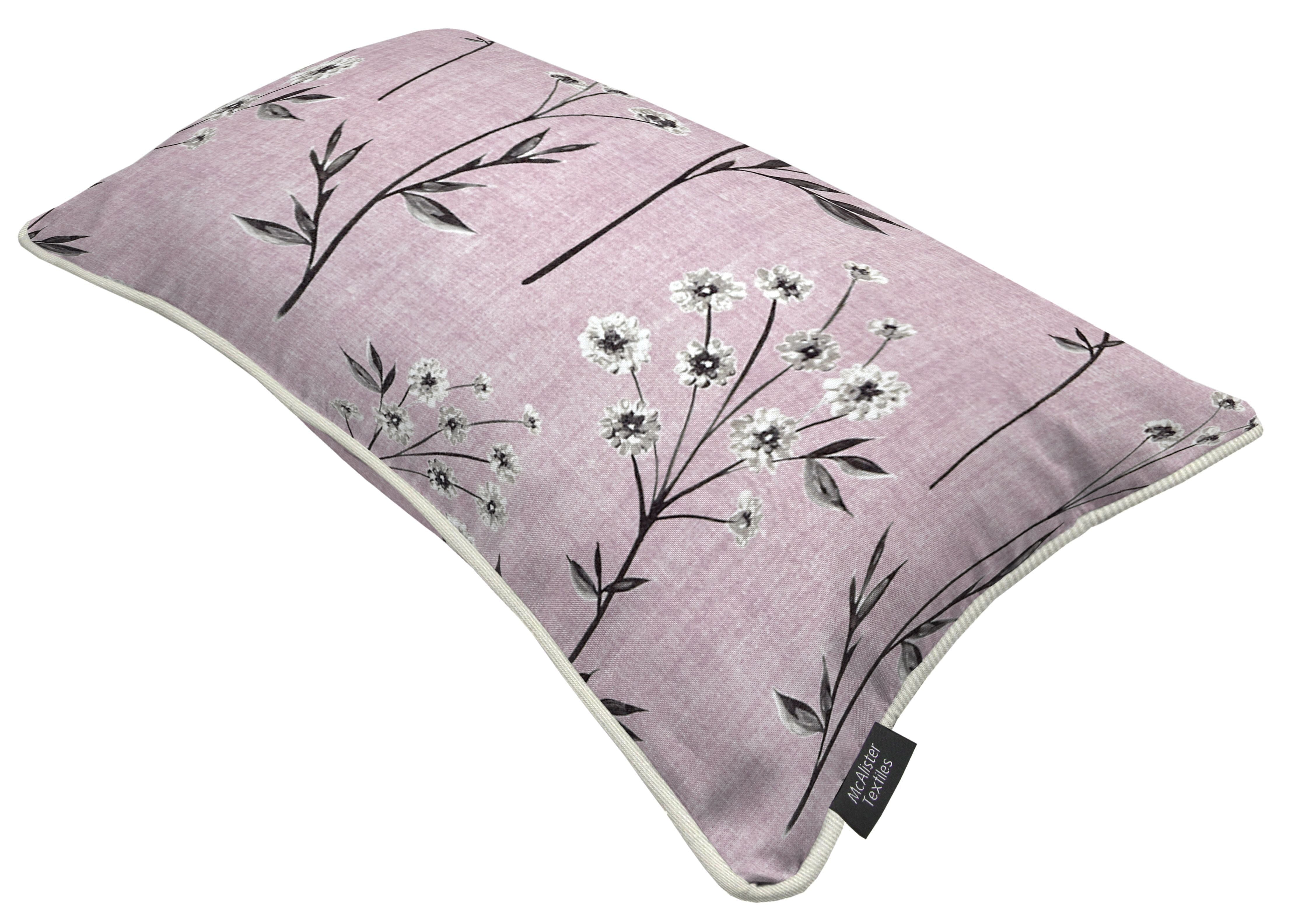 McAlister Textiles Meadow Blush Pink Floral Cotton Print Pillow Pillow