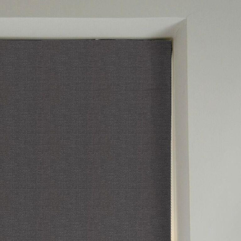 McAlister Textiles Savannah Charcoal Grey Roman Blind Roman Blinds
