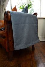 Load image into Gallery viewer, McAlister Textiles Matt Soft Silver Velvet 43cm x 43cm Cushion Sets Cushions and Covers