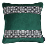Load image into Gallery viewer, McAlister Textiles Cancun Striped Emerald Green Velvet Pillow Pillow Cover Only 43cm x 43cm