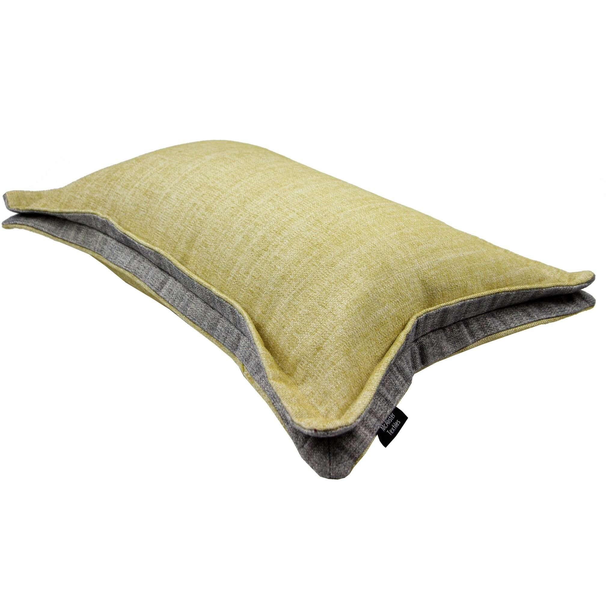 McAlister Textiles Rhumba Accent Ochre Yellow + Grey Pillow Pillow