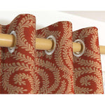Load image into Gallery viewer, McAlister Textiles Little Leaf Burnt Orange Curtains Tailored Curtains