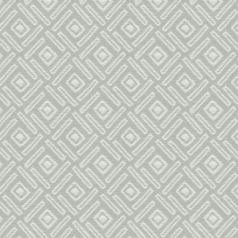 McAlister Textiles Elva Square Print Fabric Sample - Taupe Grey-Fabrics-