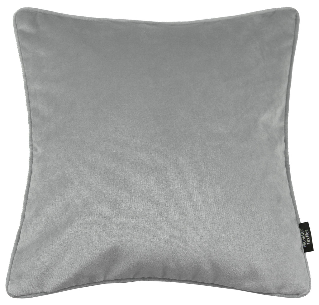 McAlister Textiles Matt Dove Grey Velvet 43cm x 43cm Cushion Sets Cushions and Covers