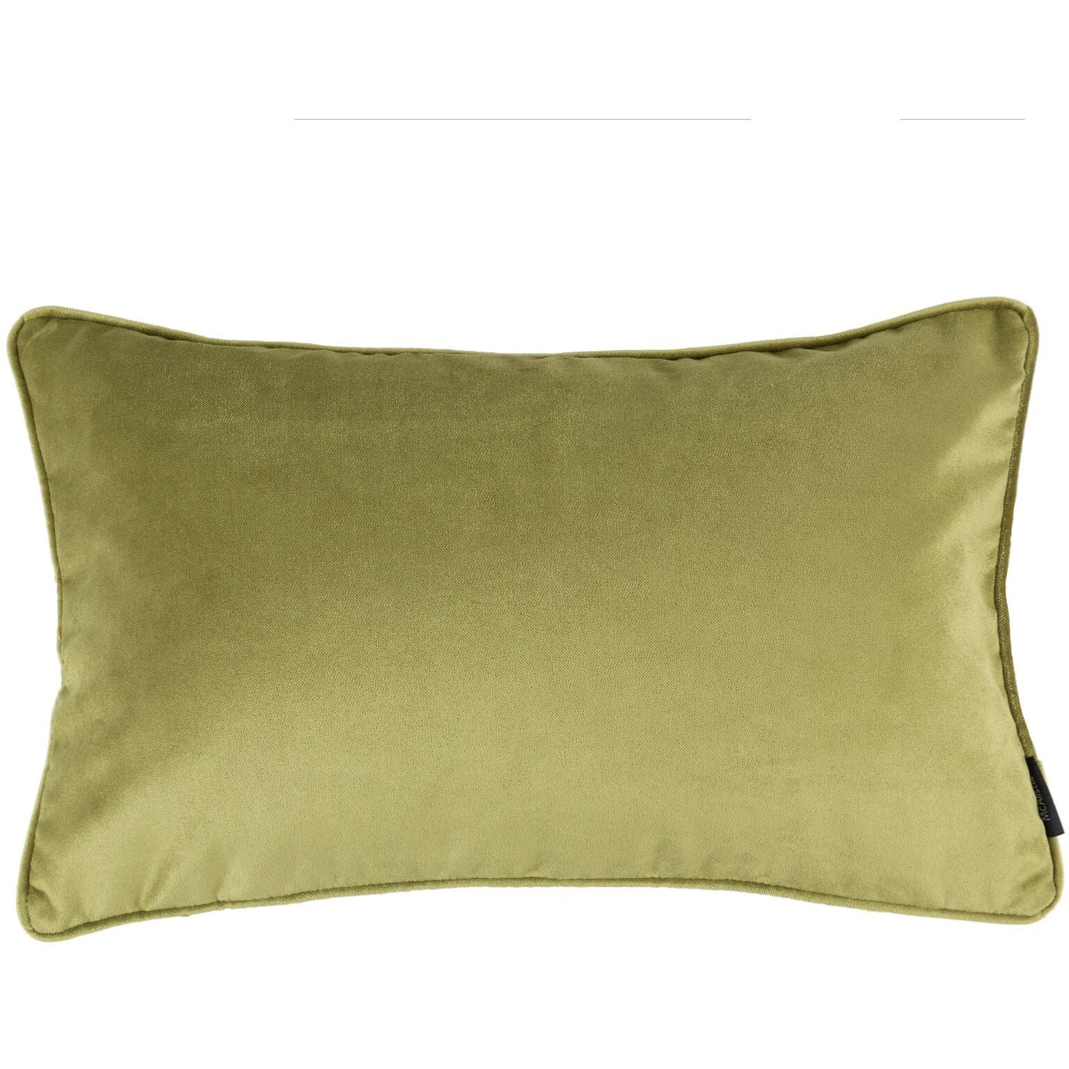 McAlister Textiles Matt Lime Green Velvet Cushion Cushions and Covers Cover Only 50cm x 30cm