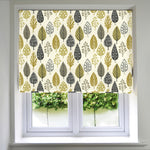 Load image into Gallery viewer, McAlister Textiles Magda Cotton Print Ochre Yellow Roman Blind Roman Blinds Standard Lining 130cm x 200cm