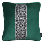 Carica l'immagine nel visualizzatore di Gallery, McAlister Textiles Coba Striped Emerald Green Velvet Cushion Cushions and Covers Polyester Filler 43cm x 43cm