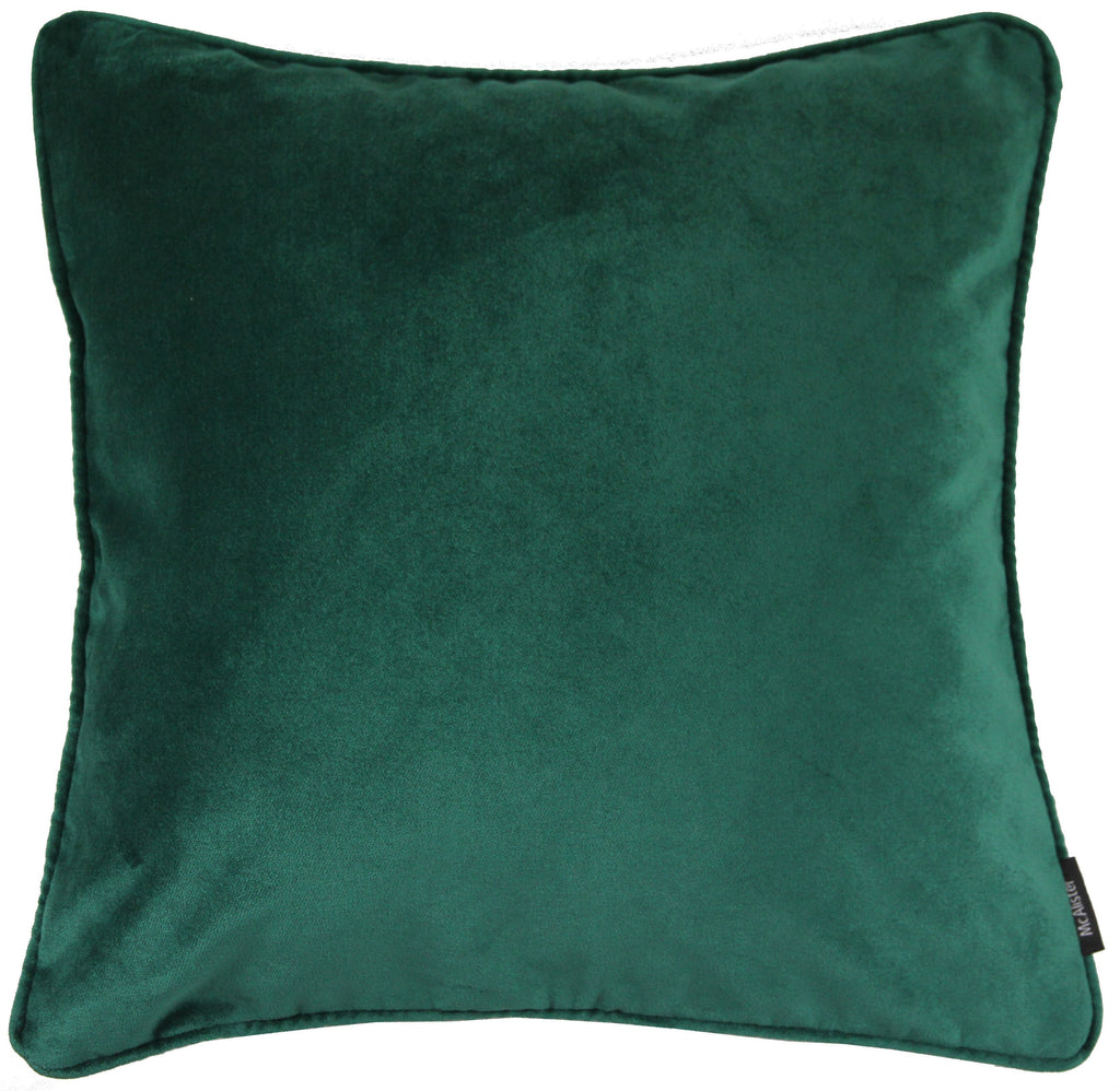 McAlister Textiles Matt Emerald Green Velvet Bedding Set Bedding Set