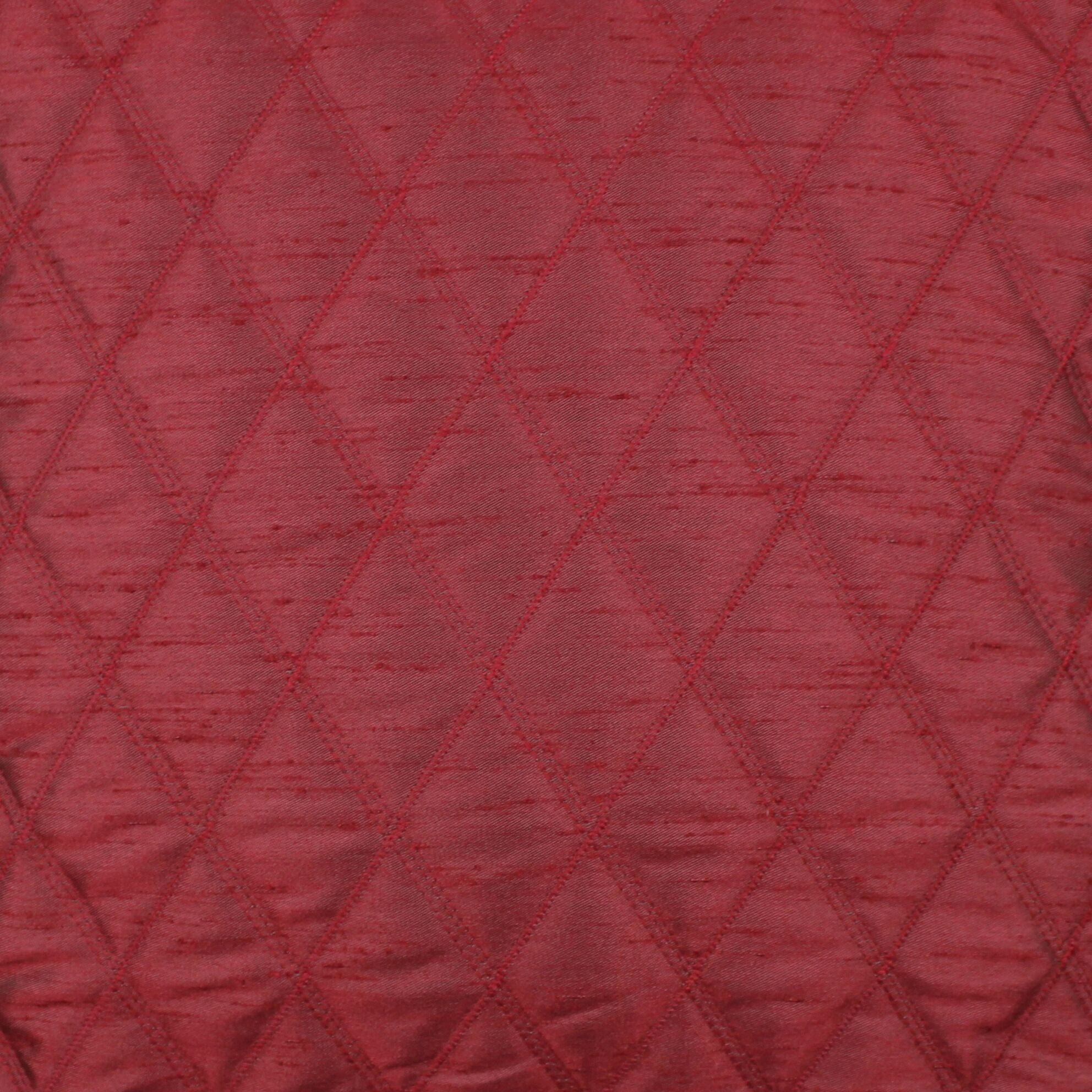 McAlister Textiles Rocco Diamond Quilted Wine Red Silk Pillow Pillow