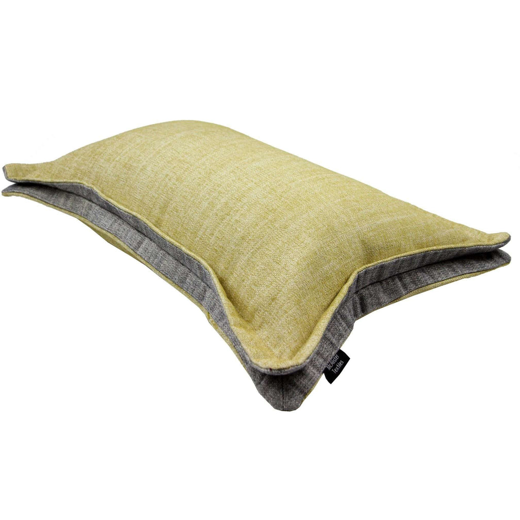 McAlister Textiles Rhumba Accent Ochre Yellow + Grey Cushion Cushions and Covers