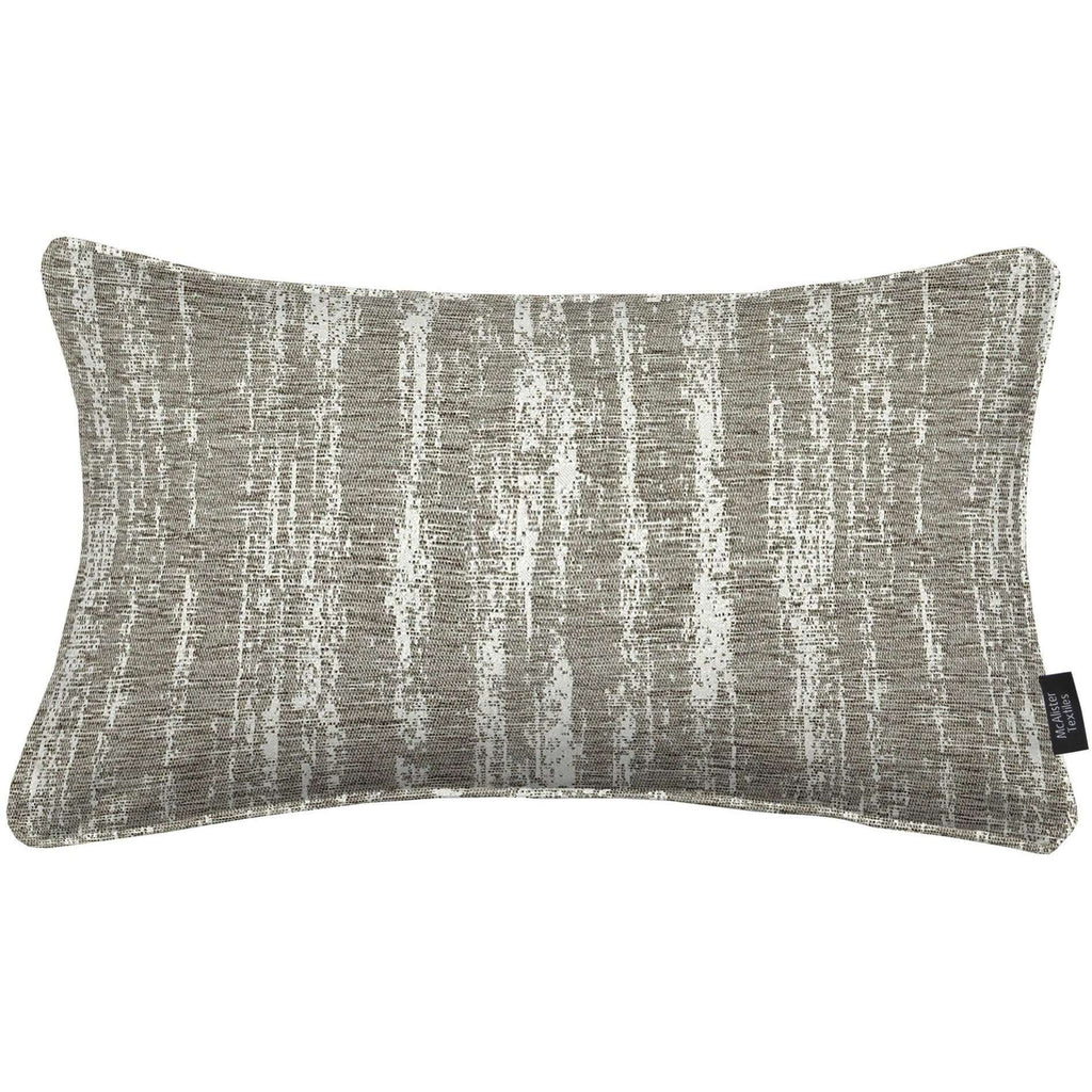 McAlister Textiles Textured Chenille Silver Grey Pillow Pillow Polyester Filler 50cm x 30cm