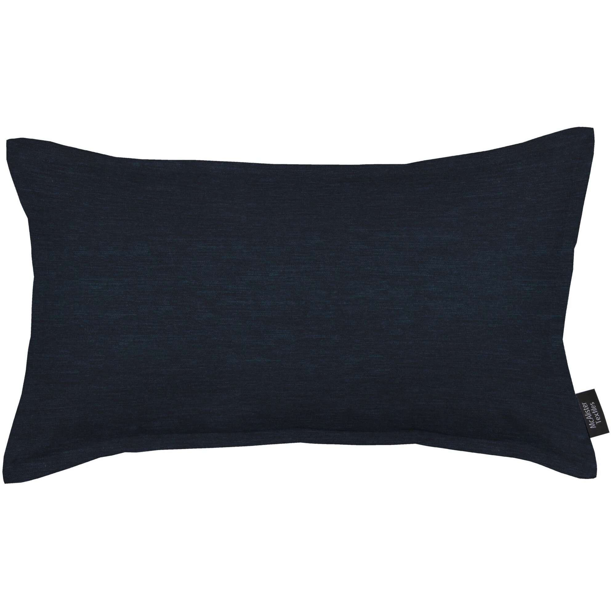 McAlister Textiles Plain Chenille Navy Blue Cushion Cushions and Covers Polyester Filler 60cm x 40cm