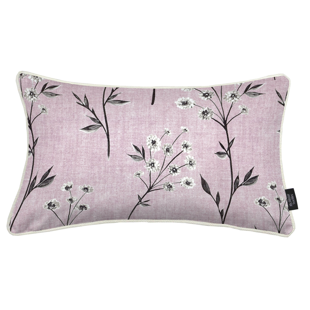 McAlister Textiles Meadow Blush Pink Floral Cotton Print Cushions Cushions and Covers Cover Only 50cm x 30cm