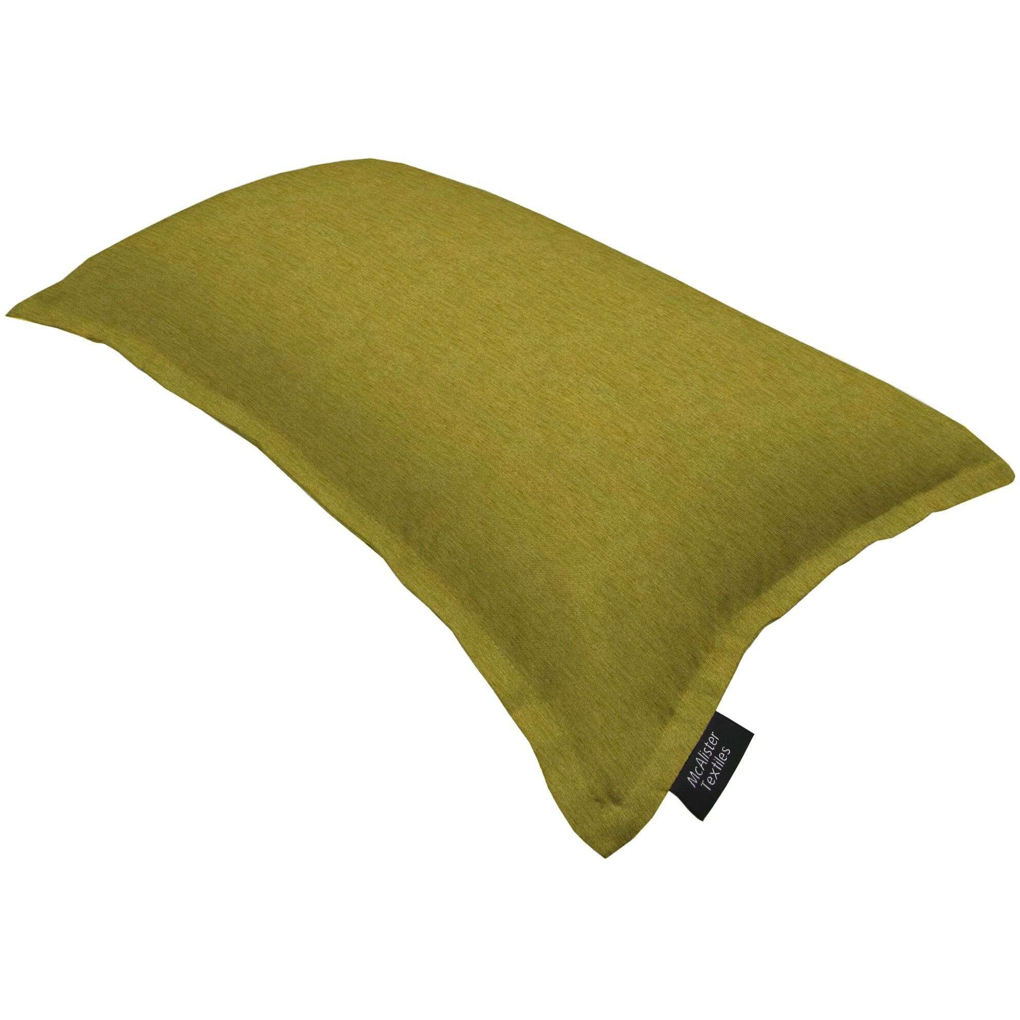 McAlister Textiles Plain Chenille Lime Green Cushion Cushions and Covers