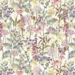 Load image into Gallery viewer, McAlister Textiles Wildflower Pastel Purple Linen Curtains Tailored Curtains