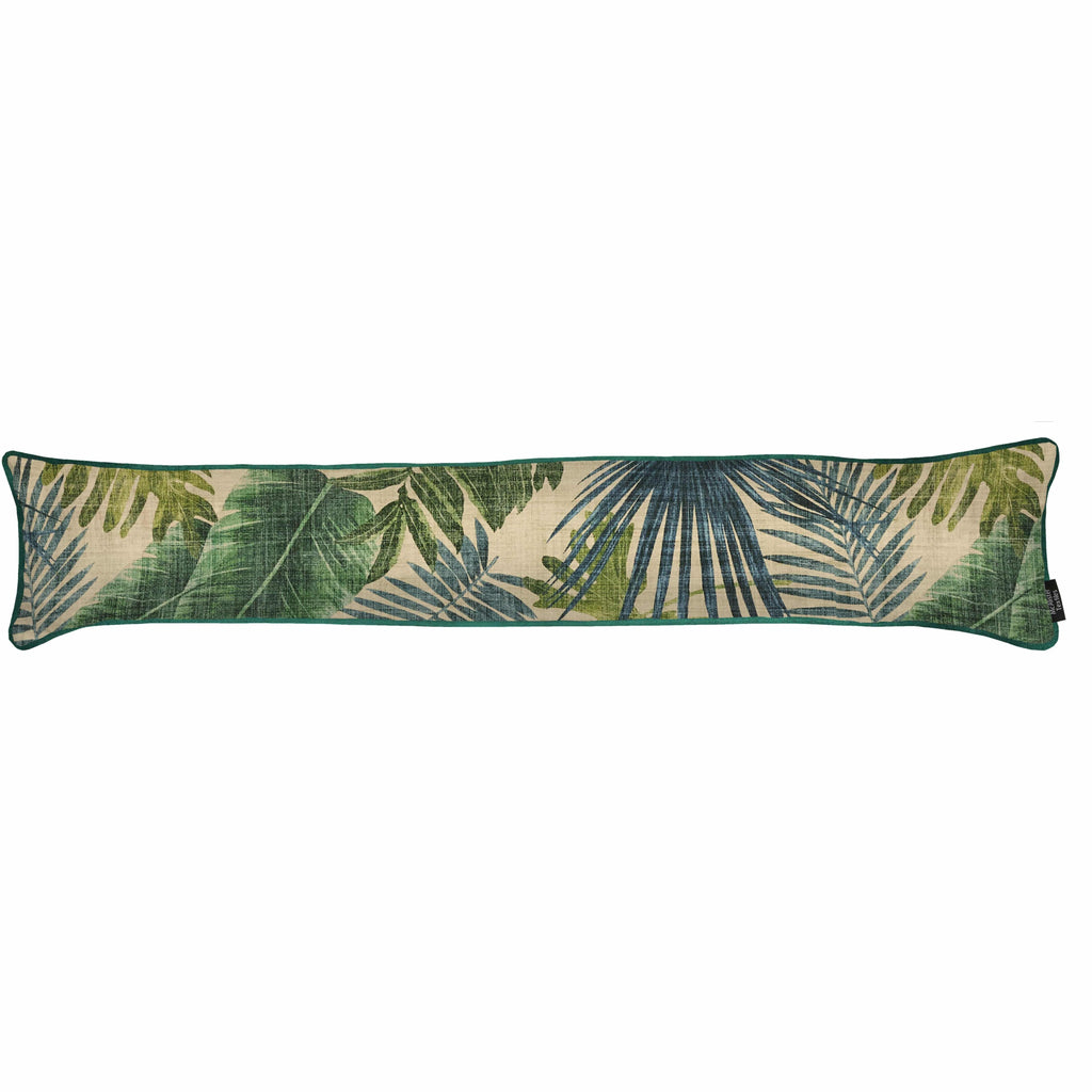 McAlister Textiles Palm Leaf Velvet Draught Excluder Draught Excluders