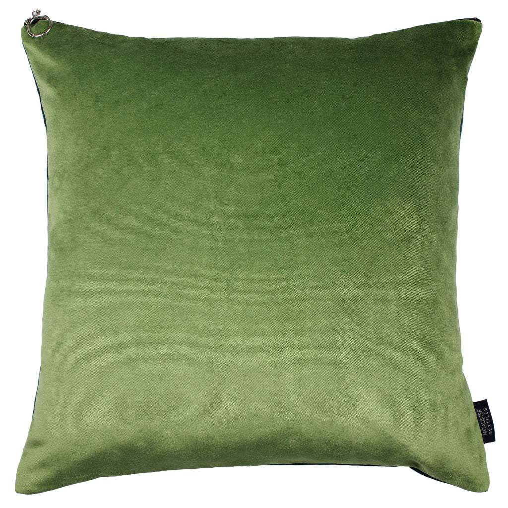 McAlister Textiles Decorative Zipper Edge Teal + Green Velvet Cushion Cushions and Covers Cover Only 43cm x 43cm