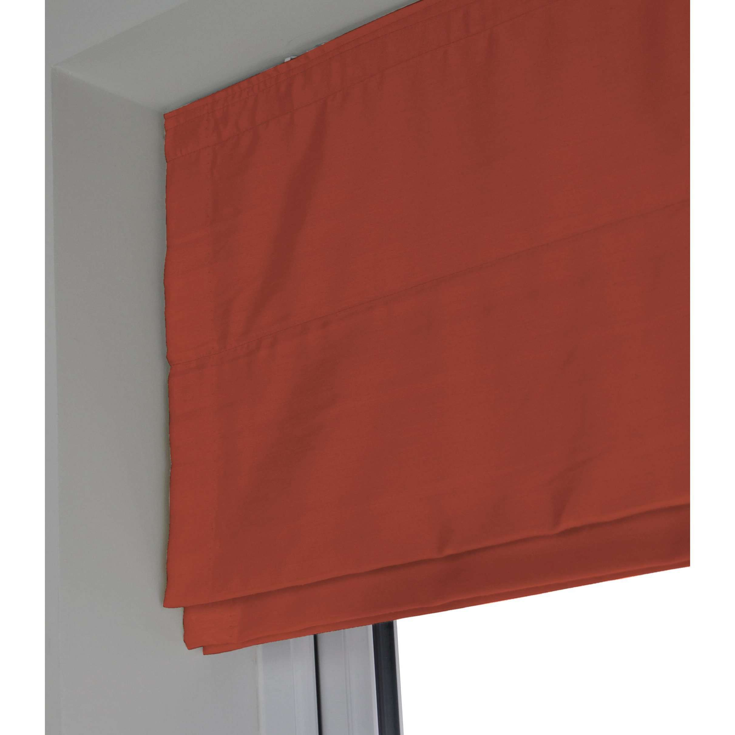 McAlister Textiles Rocco Faux Silk Burnt Orange Roman Blinds Roman Blinds