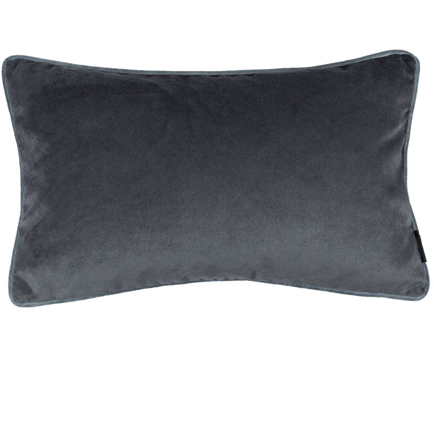 McAlister Textiles Matt Charcoal Grey Velvet Cushion Cushions and Covers Cover Only 50cm x 30cm